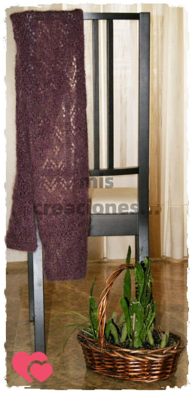 bufanda de mohair tejida en tricot