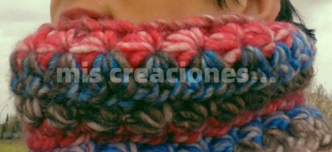 cuello de lana crochet