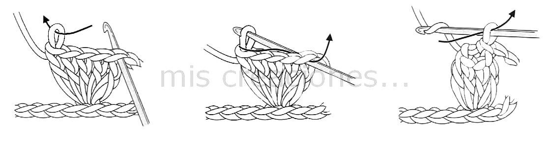 como hacer punto bodoque crochet