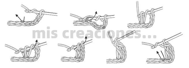 hacer punto alto crochet