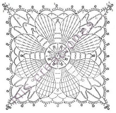 patron posavasos crochet
