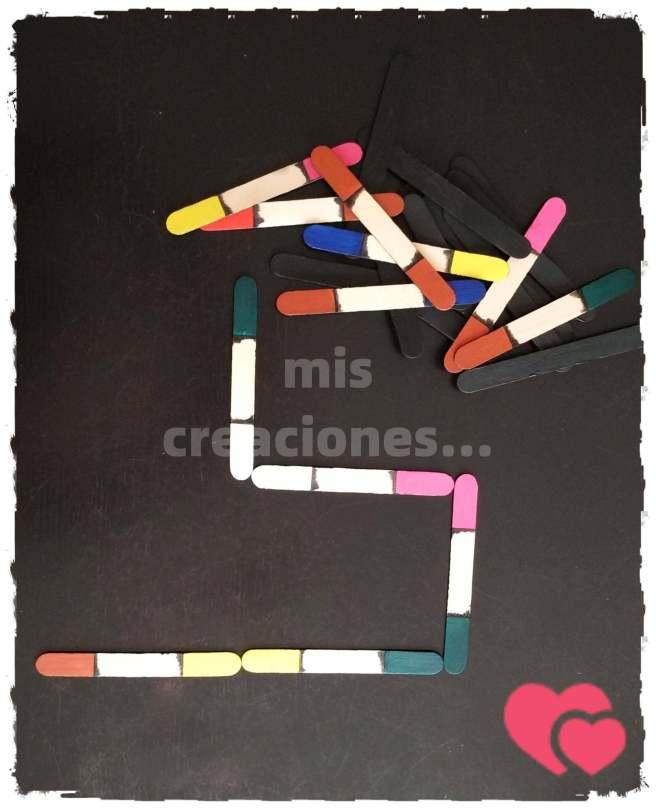 domino infantil de colores