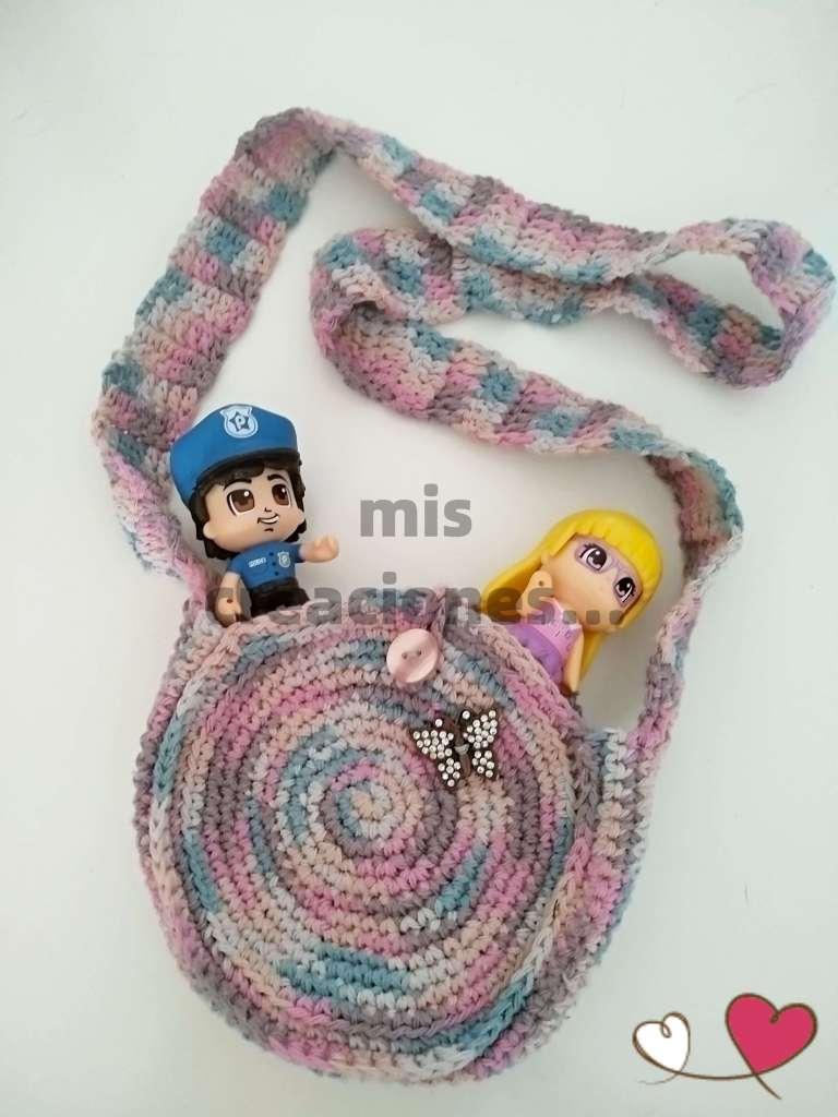 bolsito de crochet para niñas y niños