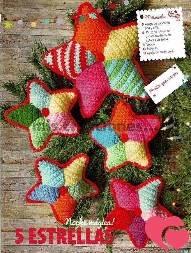 Estrellas amigurumi para el árbol de Navidad