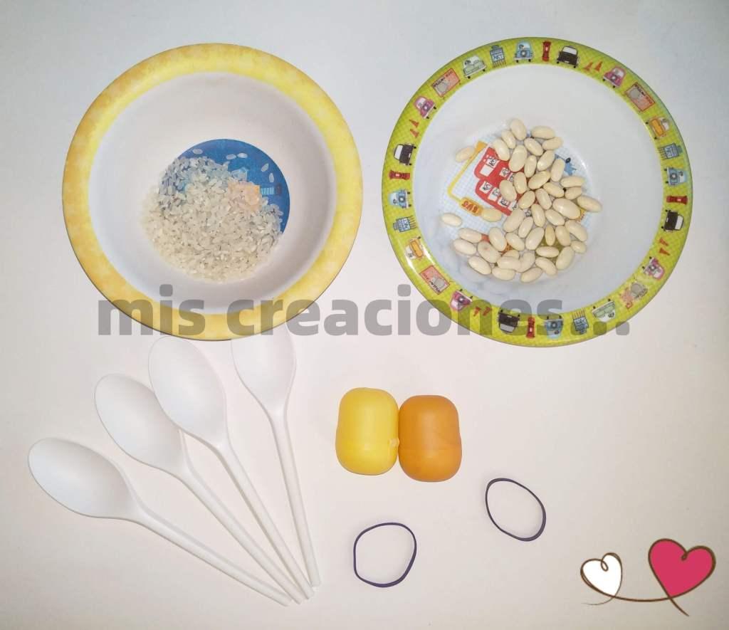 Hacer maracas con material reciclado