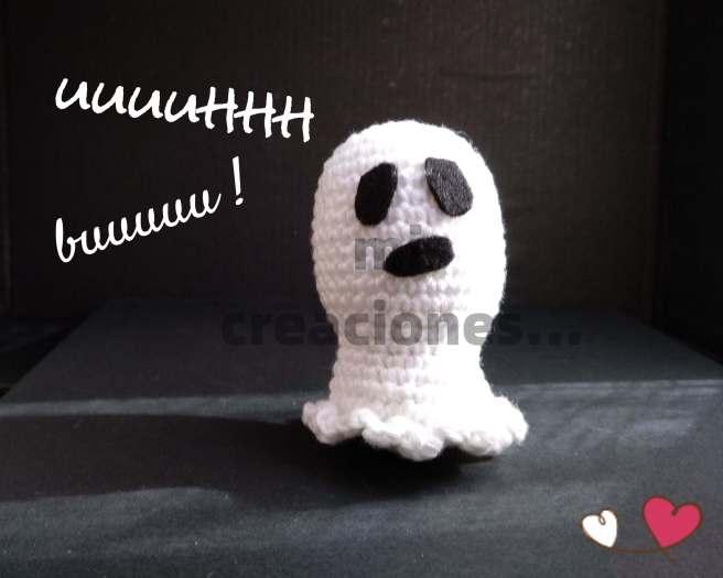 Patrón gratis, fantasma amigurumi Halloween