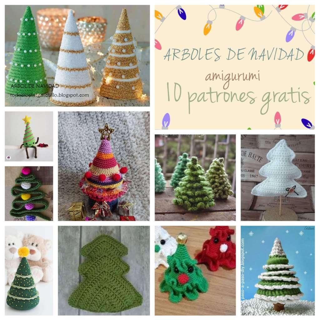 Árboles de navidad amigurumi, 10 patrones gratis